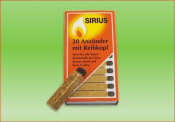 Anzünder | 20 Stck. pro Packung mit Reibkopf