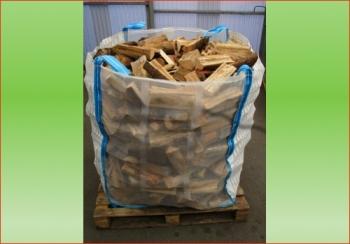 Fichte-Tanne ca. 1.3 srm - Big Bag   Holzstück-Länge ca. 25 cm
