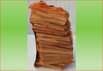 Anfeuerholz 7,5 - 8,0 kg Sack | Holzstück-Länge ca. 20-25 cm