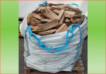 Buche-Eiche ca. 1.3 srm - Big Bag   Holzstück-Länge ca. 25 cm