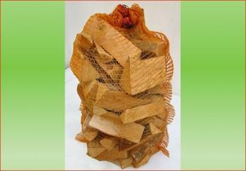 Fichte-Tanne im 80 ltr. Sack | Holzstück-Länge ca. 20 cm